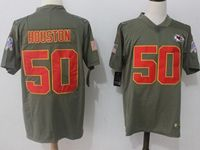 Mens Nfl Kansas City Chiefs #50 Justin Houston Green Olive Salute To Service Limited Nike Jersey