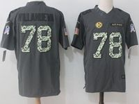 Mens Nfl Pittsburgh Steelers #78 Alejandro Villanueva Black Salute To Service Nike Limited Jersey