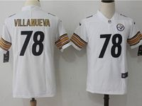 Women Youth Nfl Pittsburgh Steelers #78 Alejandro Villanueva White Vapor Untouchable Limited Jersey