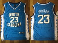 Mens Ncaa Nba North Carolina #23 Jordan Swingmann Lt Blue Jersey