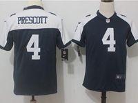 Youth Dallas Cowboys #4 Dak Prescott Blue Thanksgiving Vapor Untouchable Limited Jersey
