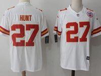 Mens Nfl Kansas City Chiefs #27 Kareem Hunt White Vapor Untouchable Limited Player Jersey