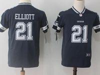 Women Youth Nfl Dallas Cowboys #21 Ezekiel Elliott Blue Vapor Untouchable Limited Jersey