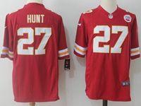 Mens Nfl Kansas City Chiefs #27 Kareem Hunt Red Nike Game Jersey
