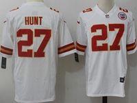 Mens Nfl Kansas City Chiefs #27 Kareem Hunt White Nike Game Jersey