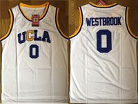 Mens Ncaa Nba Ucla Bruins #0 Russell Westbrook White Basketball Jersey