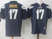 Mens Nfl Los Angeles Chargers #17 Philip Rivers Dark Blue Nike Game Jersey
