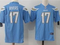 Mens Nfl Los Angeles Chargers #17 Philip Rivers Light Blue Nike Game Jersey