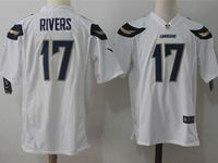 Mens Nfl Los Angeles Chargers #17 Philip Rivers White Nike Game Jersey