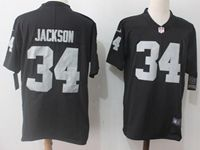 Mens Nfl Oakland Raiders #34 Bo Jackson Black Vapor Untouchable Limited Jersey