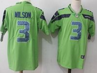 Mens Nfl Seattle Seahawks #3 Russell Wilson Green Vapor Untouchable Color Rush Limited Player Jersey