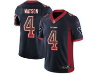 Mens Nfl Houston Texans #4 Deshaun Watson Blue Drift Fashion Vapor Untouchable Limited Jersey