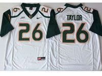 Mens Ncaa Nfl 2018 Miami Hurricanes #26 Sean Taylor White Game Jersey