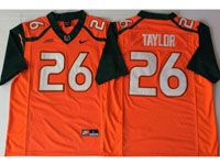 Mens Ncaa Nfl 2018 Miami Hurricanes #26 Sean Taylor Orange Game Jersey