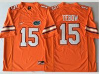 Mens Ncaa Nfl Florida Gators#15 Tebow Orange Jersey