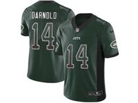 Mens Nfl New York Jets #14 Sam Darnold Green Drift Fashion Vapor Untouchable Limited Jersey