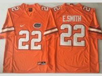 Mens Ncaa Nfl Florida Gators #22 E.smith Orange Game Jersey
