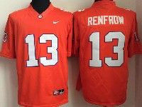 Mens Ncaa Nfl Clemson Tigers Custom Made Orange Limited Jersey