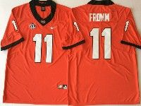 Mens Ncaa Nfl Georgia Bulldogs #11 Fromm Red Jersey