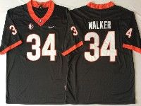 Mens Ncaa Nfl Georgia Bulldogs #34 Herchel Walker Black Jersey