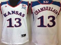 Mens Ncaa Nba Kansas Jayhawks #13 Chamberlain White Jersey