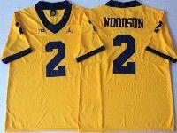 Mens Ncaa Nfl Jordan Brand Michigan Wolverines #2 Charles Woodson Yellow Limited Jersey
