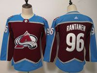 Women Youth Nhl Colorado Avalanche #96 Mikko Rantanen Red Home Adidas Jersey