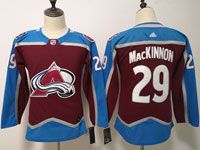 Women Youth Nhl Colorado Avalanche #29 Nathan Mackinnon Red Home Adidas Jersey