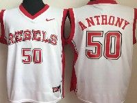 Mens Ncaa Nba Ole Miss Rebels #50 Anthony White College Jersey