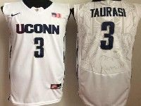 Mens Ncaa Nba Uconn Huskies #3 Taurasi White Jersey
