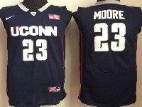 Mens Ncaa Nba Uconn Huskies #23 Moore Navy Blue Jersey