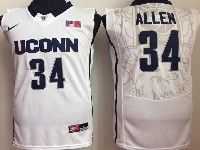 Mens Ncaa Nba Uconn Huskies #34 Allen White Jersey