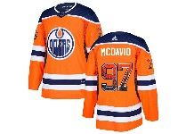Mens Adidas Nhl Edmonton Oilers #97 Connor Mcdavid Orange Drift Fashion Home Jersey