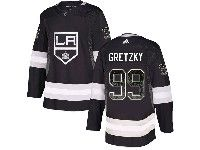 Mens Nhl Los Angeles Kings #99 Wayne Gretzky Black Drift Fashion Home Adidas Jersey