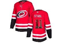 Mens Nhl Carolina Hurricanes #11 J.staal Red Drift Fashion Home Adidas Jersey