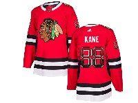 Mens Nhl Chicago Blackhawks #88 Patrick Kane Drift Fashion Home Adidas Red Jersey