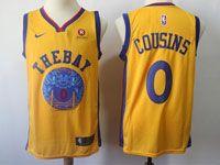 Mens Nba Golden State Warriors #0 Demarcus Cousins Gold Nike City Edition Swingman Jersey