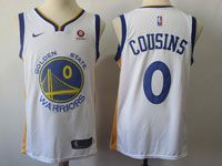 Mens Nba Golden State Warriors #0 Demarcus Cousins Nike White Swingman Jersey