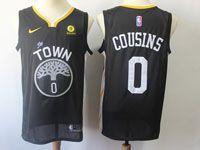 Mens Nba Golden State Warriors #0 Demarcus Cousins Nike Black Statement Edition Swingman Jersey