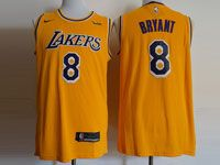 Mens Nba Los Angeles Lakers #8 Kobe Bryant Nike 2018-19 Swingman Gold Jersey