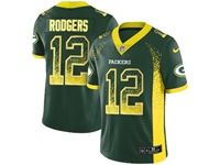 Mens Nfl Green Bay Packers #12 Aaron Rodgers Green Drift Fashion Vapor Untouchable Limited Jersey