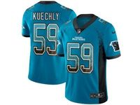 Mens Nfl Carolina Panthers #59 Luke Kuechly Blue Drift Fashion Vapor Untouchable Limited Jersey