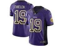 Mens Nfl Minnesota Vikings #19 Adam Thielen Purple Drift Fashion Vapor Untouchable Limited Jersey