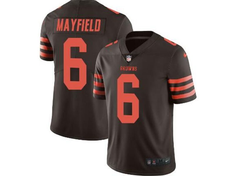 Mens Nfl Cleveland Browns #6 Baker Mayfield Brown Color Rush Vapor Untouchable Limited Nike Jersey