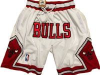 Mens Nba Chicago Bulls White 1997-98 Nike Just Do Pocket Shorts