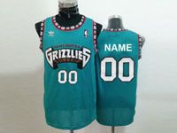 Mens Nba Vancouver Grizzlies Custom Made Green Hardwood Classics Mesh Jersey