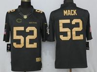 Mens Nfl Chicago Bears #52 Khalil Mack Gold Anthracite Salute To Service Nike Limited Jersey
