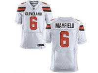 Mens Nfl Cleveland Browns #6 Baker Mayfield White Elite Jersey