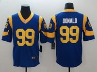 Mens Women Youth Nfl St. Louis Rams #99 Aaron Donald 2019 Super Bowl Liii Bound Blue Vapor Untouchable Nike Limited Player Jersey