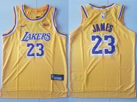 Youth Nba Los Angeles Lakers #23 Lebron James Nike 2018-19 Authentic Gold Jersey